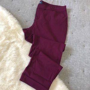 Old navy cranberry pixie pants sz.18